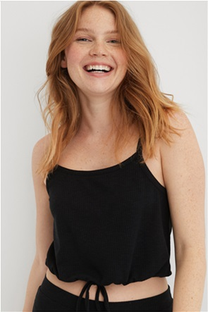 Aerie Real SoftΒ® Ribbed Cropped Cami