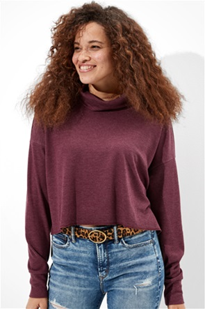 AE Cropped Long Sleeve Mock Neck T-Shirt