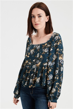 AE Stitched Square Neck Blouse