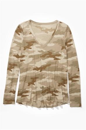 AE Long Sleeve V-Neck T-Shirt