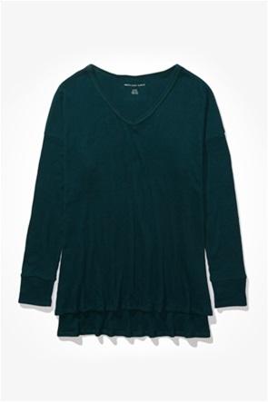 AE Plush Long Sleeve V-Neck T-Shirt