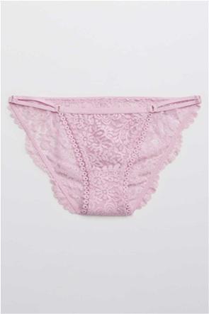 Aerie Far Out Lace String Bikini Underwear