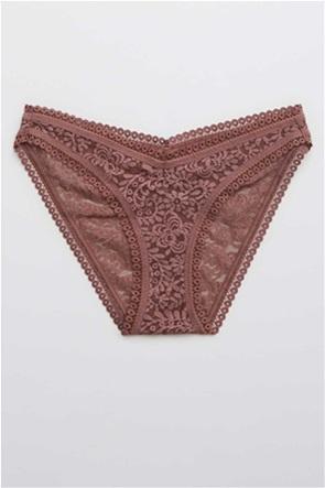 Aerie Far Out Lace High Cut Bikini Underwear