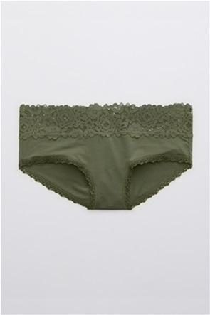 Aerie Bluegrass Lace Shine Boybrief Underwear