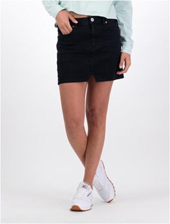 High-Waisted Denim Mini Skirt