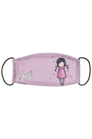 "Alouette παιδική βαμβακερή μάσκα προστασίας πουά ""Santoro"" (7-16 ετών)"