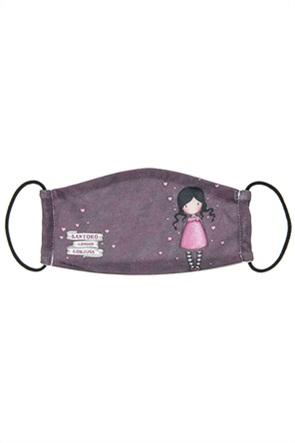 """Alouette παιδική βαμβακερή μάσκα προστασίας με καρδούλες """"Santoro"""""""