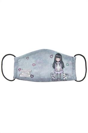 """Alouette παιδική βαμβακερή μάσκα προστασίας με γατάκια """"Santoro"""" (7-16 ετών)"""