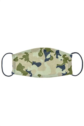 Alouette παιδική βαμβακερή μάσκα προστασίας με army print (3-6 ετών)