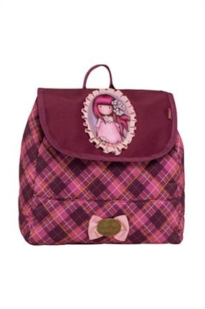 "Alouette παιδικό σακίδιο πλάτης με καρό σχέδιο Santoro ""Cherry Blossom"""