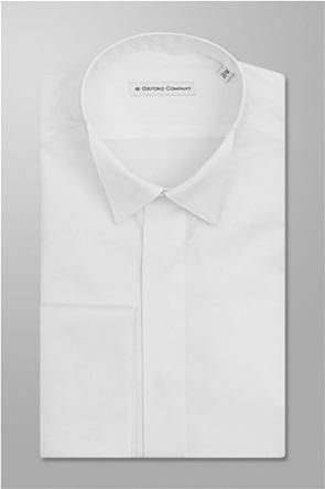 "Oxford Company ανδρικό πουκάμισο μονόχρωμο Slim Fit ""Smokin"""