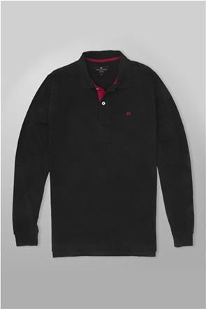Oxford Company ανδρική polo μπλούζα μακρυμάνικη