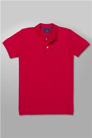 Oxford Company ανδρική πόλο μπλούζα με κεντημένο λογότυπο