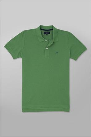 Oxford Company ανδρική πόλο μπλούζα με κεντημένο logo Slim Fit