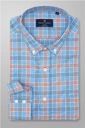 Oxford Company ανδρικό πουκάμισο καρό με τσέπη
