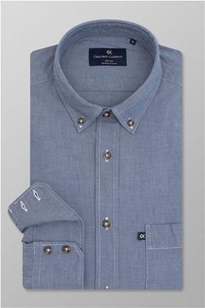Oxford Company ανδρικό τζην πουκάμισο button down Slim Fit