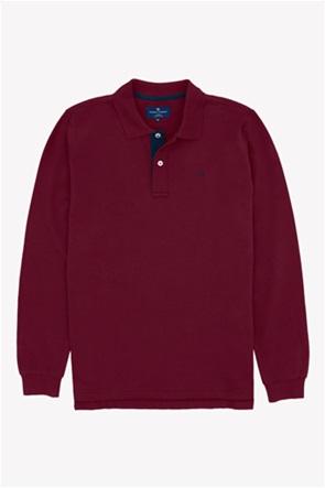 Oxford Company ανδρική πόλο μπλούζα με μακρύ μανίκι Regular Fit