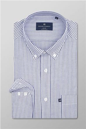 Oxford Company ανδρικό ριγέ πουκάμισο button down Slim Fit