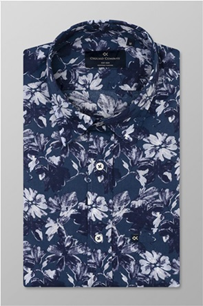 "Oxford Company ανδρικό πουκάμισο floral με τσέπη στο στήθος ""Porto"""