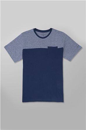 Oxford Company ανδρικό T-shirt με colorblocking και τσέπη στο στήθος