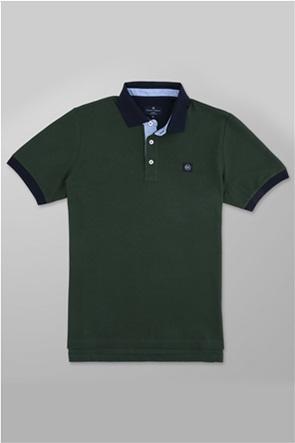 Oxford Company ανδρική πόλο μπλούζα με logo patch