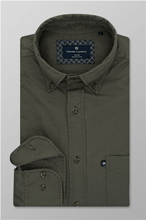 Oxford Company ανδρικό sport πουκάμισο μονόχρωμο Regular Fit