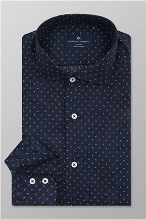 "Oxford Company ανδρικό πουκάμισο με μικροσχέδιο ""Romeo"" Slim Fit"