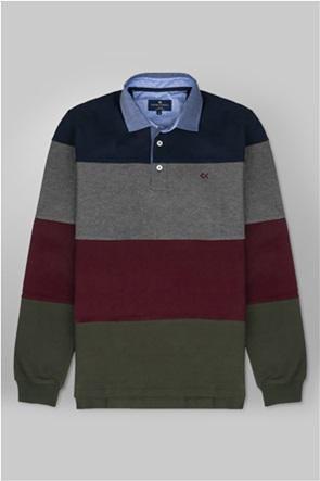 Oxford Company ανδρική πόλο μπλούζα με ριγέ σχέδιο Regular Fit