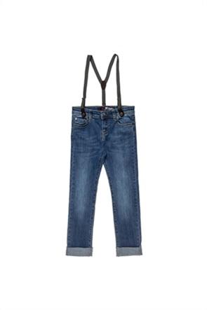 Alouette παιδικό τζην παντελόνι με τιράντες (6-16 ετών)