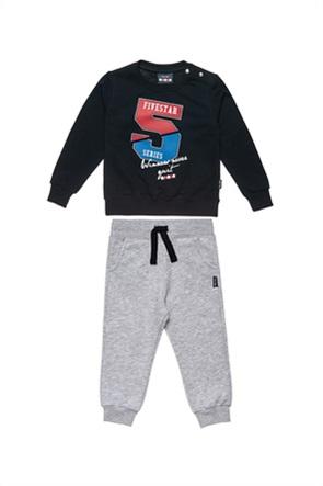 "Alouette παιδικό σετ ρούχων μπλούζα με print και παντελόνι με λάστιχο ""Five Star"" (12 μηνών-5 ετών)"