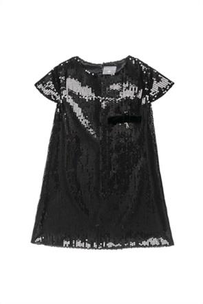 Alouette παιδικό φόρεμα κοντομάνικο με παγιέτες (6-14 ετών)