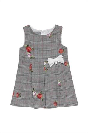 Alouette παιδικό αμάνικο φόρεμα καρό με κεντήματα (2-5 ετών)