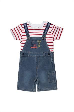 Alouette βρεφικό σετ ρούχων τζην σαλοπέτα T-shirt (3-18 μηνών)