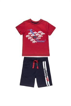 "Alouette παιδικό σετ ρούχων T-shirt με graphic print και βερμούδα ""Moovers"" (12 μηνών-5 ετών)"