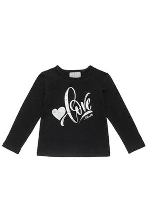Alouette παιδική μπλούζα με foil letter print (12 μηνών-5 ετών)