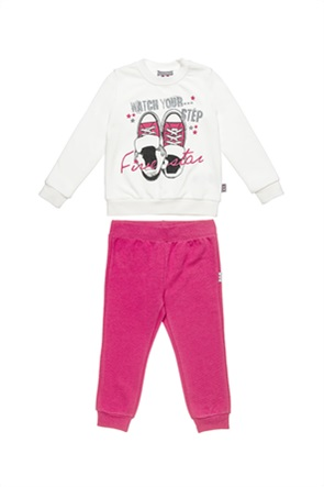 "Alouette παιδικό σετ ρούχων μπλούζα με glitter και παντελόνι με λάστιχο ""Five Star"" (12 μηνών-5 ετών)"