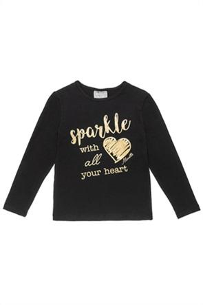 Alouette παιδική μπλούζα με foil print (6-16 ετών)
