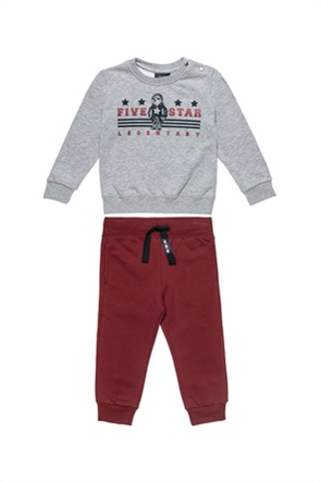 Alouette παιδικό σετ ρούχων με μπλούζα με print και παντελόνι με τσέπες (9 μηνών-5 ετών)