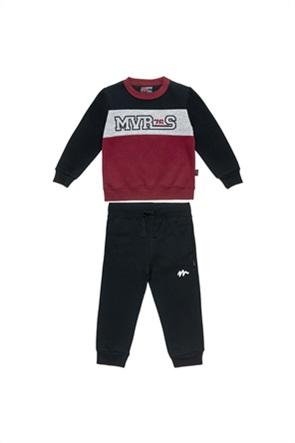 "Alouette παιδικό σετ ρούχων μπλούζα φούτερ colorblocked με παντελόνι φόρμα ""Moovers"" (2-5 ετών)"