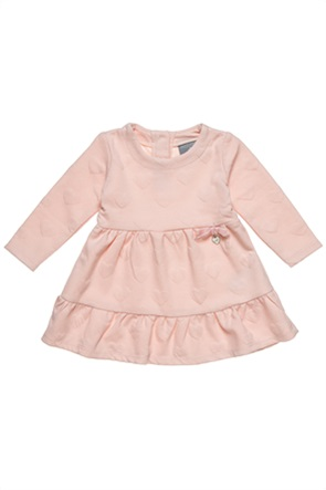 Alouette παιδικό φόρεμα με ανάγλυφες καρδούλες και βολάν (9 μηνών-5 ετών)