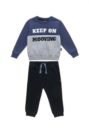 "Alouette παιδικό σετ ρούχων μπλούζα φούτερ colourblocked με παντελόνι ""Moovers"" (2-5 ετών)"