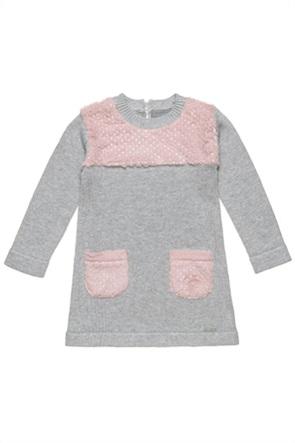 Alouette παιδικό πλεκτό φόρεμα με γούνινες τσέπες (2-5 ετών)