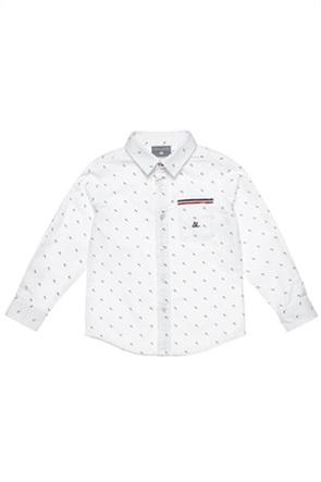 Alouette παιδικό πουκάμισο με μικροσχέδιο (12 μηνών-5 ετών)