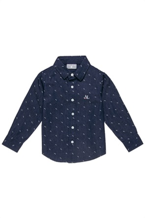 Alouette παιδικό πουκάμισο με μικροσχέδιο (18 μηνών-5 ετών)