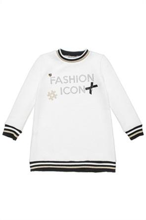 Alouette παιδικό μπλουζοφόρεμα με στρας και φιογκάκι (6-14 ετών)