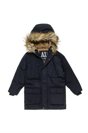 Alouette παιδικό parka με γούνα στη κουκούλα και τσέπες (6-16 ετών)