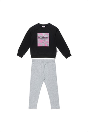 Alouette παιδικό σετ ρούχων μπλούζα φούτερ με glitter και κολάν (6-16 ετών)