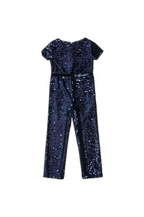 Alouette παιδική ολόσωμη φόρμα με all-over παγιέτα και strass (6-14 ετών)
