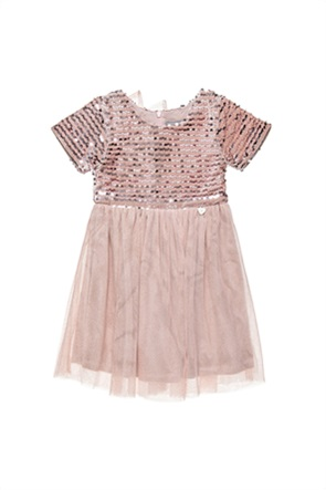 Alouette παιδικό φόρεμα με παγιέτα και τούλι (18 μηνών-5 ετών)