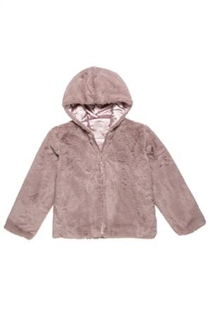 Alouette παιδικό μπουφάν με κουκούλα και faux γούνα (6-14 ετών)